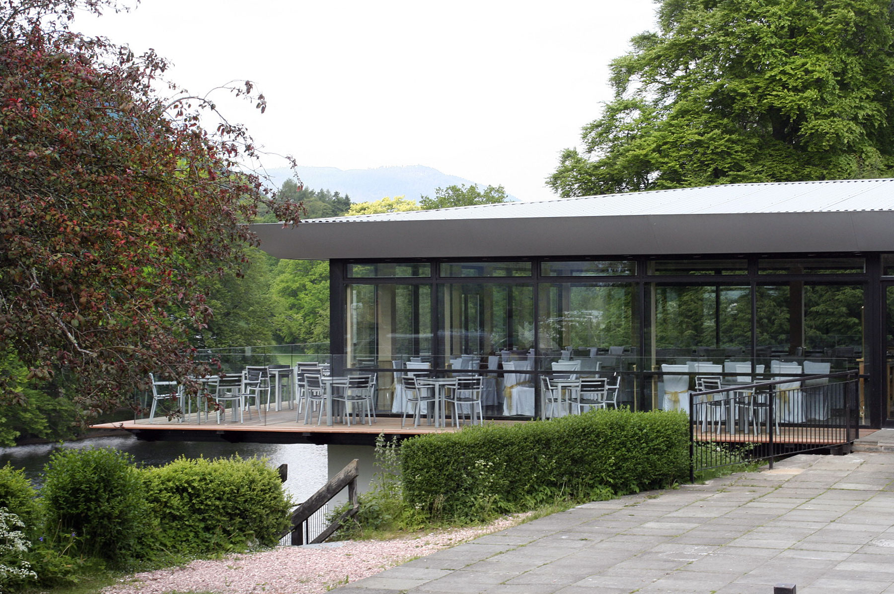 Waterside cafe architecture